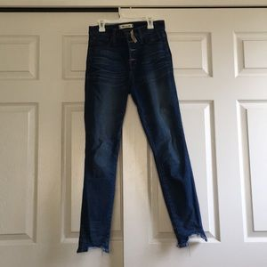 "10"" High Rise Skinny Jeans- Chewed Hem Edition"